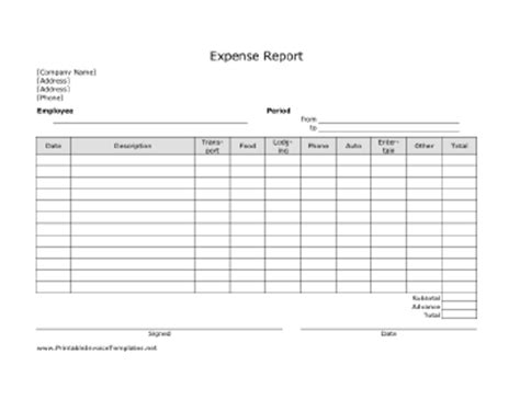 expense invoice template printable lined calendar templates calendar template 2016
