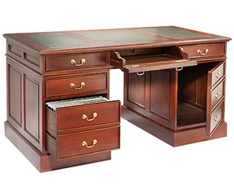 Large Computer Desks Large Computer Desk With Leather Top And Antique Handles