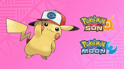 Sun And Moon Pokemon Giveaway - pokemon sun and moon unova cap pikachu this time available