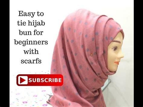 hijab with bun hijab bun with scarf for beginners easy hijab style bun