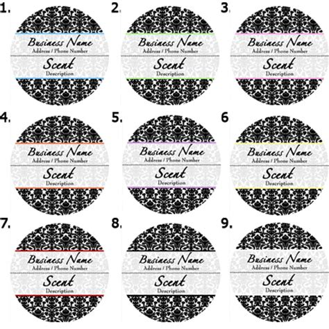 Pre Designed Candle Labels Candle Label Templates