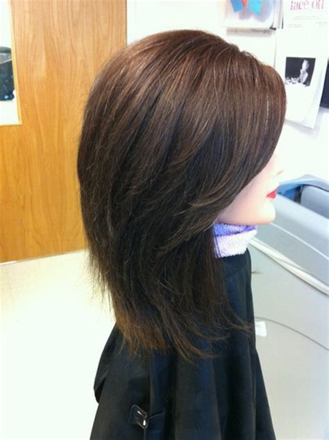 layered back view hairstyles layered haircut back view