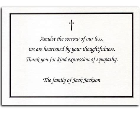 thank you letter after the funeral thank you card wording for funeral happyeasterfrom