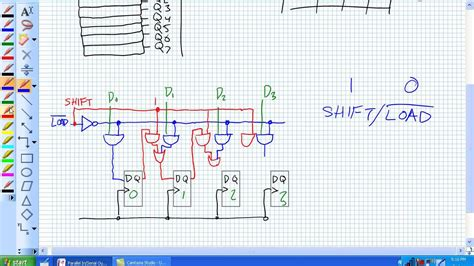 piso verilog code parallel in serial out shift registers youtube