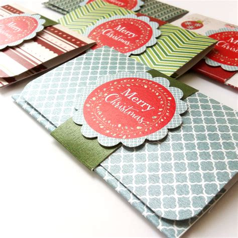 Holiday Gift Card Holders - christmas holiday gift card or money holders set of 5