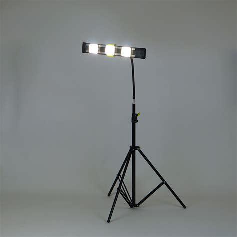 led work light stand agilux 2700 lumen portable led work light stand light
