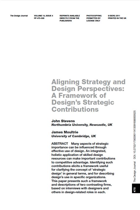 strategic design research journal unisinos items where author is moultrie james rca research online