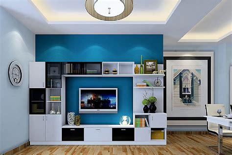 minimalist kitchen cabinet interior design 3d 3d house 3d minimalist interior white tv cabinet with blue wall