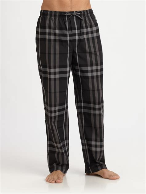 Burberry Pajamas 2 Set burberry checkprint pajama in black for lyst