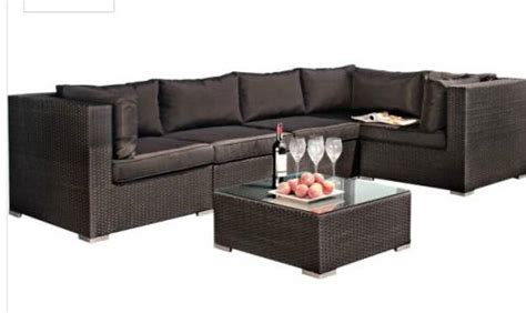 argos sofa deals argos black rattan garden corner sofa reduced 163 300 argos