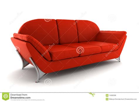 background sofa red leather sofa isolated on white background stock photo