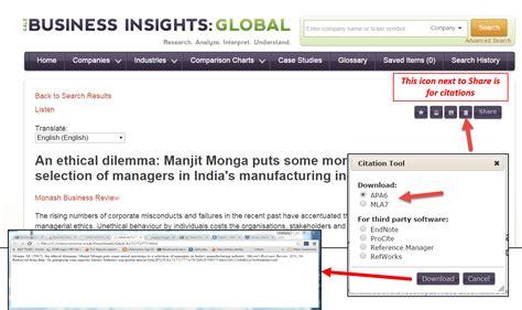 cite  company profile  business insights