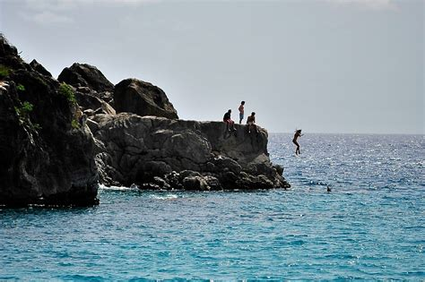 the cliff dive cliff diving uncommon caribbean