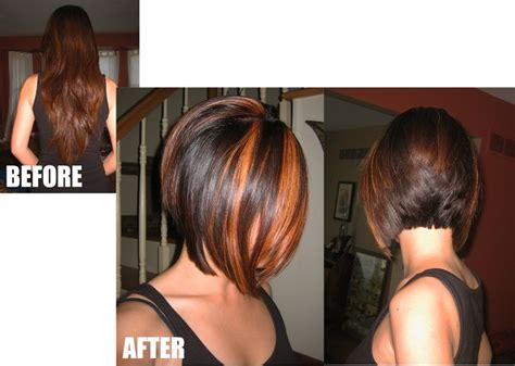 sexy bob haircut with chunky red highlites farbige bobs bobs mit farbigen str 228 hnchen heute