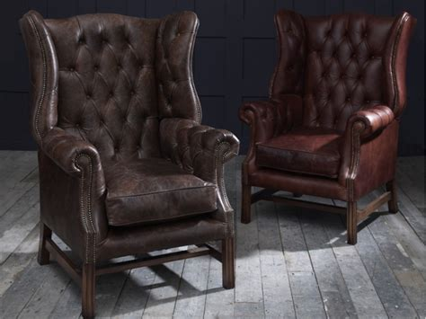 Vintage Armchairs by Manchester Vintage Leather Fireside Armchair
