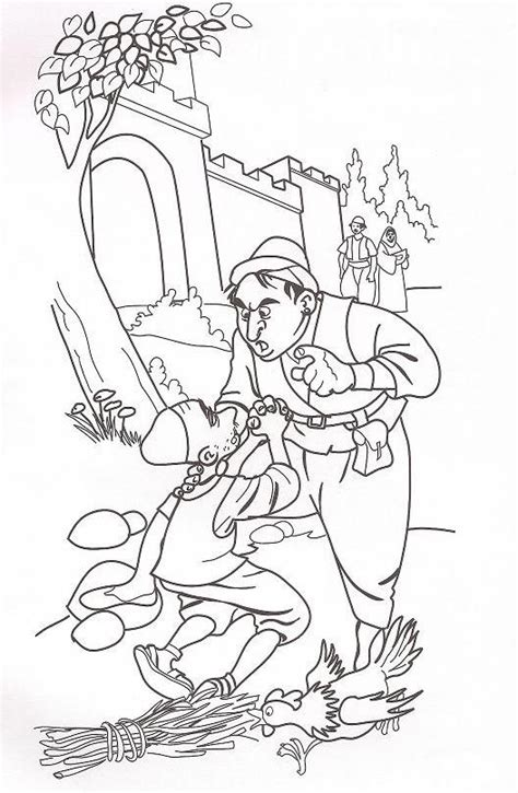 coloring page for the unforgiving servant parable unforgiving servant coloring page sketch coloring page