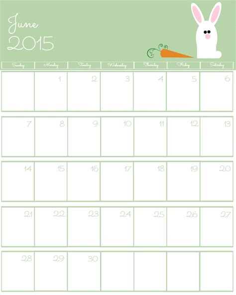 printable day planner june 2015 free 2015 printable calendar the bearfoot baker