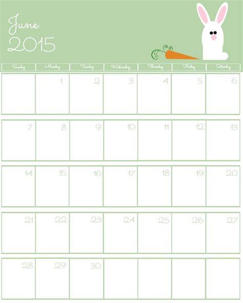 Calendar 2015 June Printable Free 2015 Printable Calendar The Bearfoot Baker