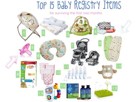 top 15 baby registry items plus other baby essentials