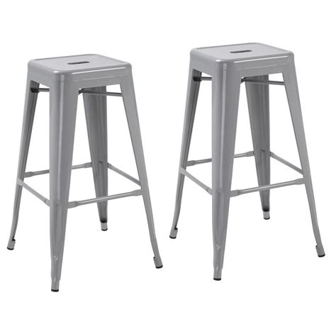 24 Bar Stools Set Of 4 by Silver 24 Inch Industrial Metal Counter Bar Stool Modern