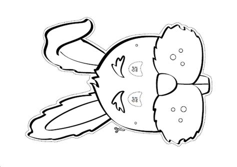 easter mask template free coloring pages of rabbit masks