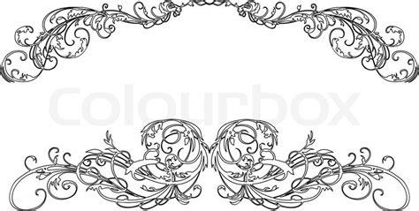 zwei barocke kalligraphie curves vektorgrafik colourbox