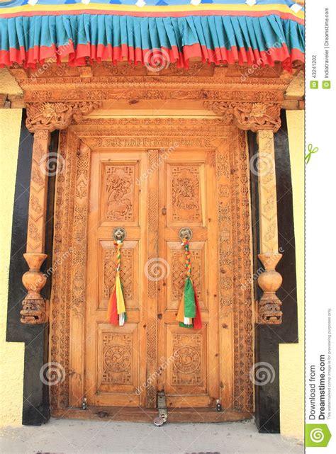decorated door decorated door stock photo image 43241202