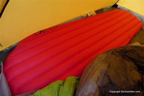most comfortable backpacking sleeping pad exped synmat winterlite sleeping pad review section