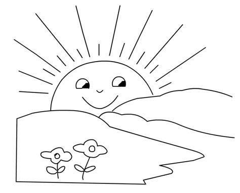 small sun coloring page small sun coloring pages coloring pages