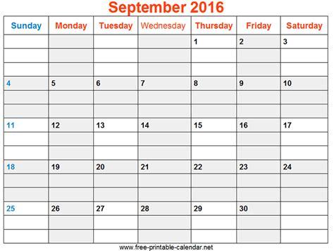 printable calendar 2016 india blank september 2016 calendar printable search free