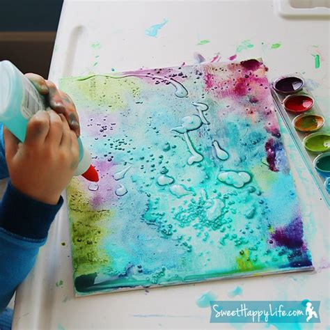 watercolor diy diy unbelievably beautiful painting with watercolors glue and salt kidsomania