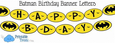 printable batman birthday decorations free printable batman birthday banner printable treats com