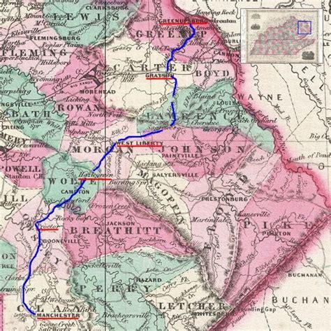 kentucky map cumberland gap cumberland gap caign