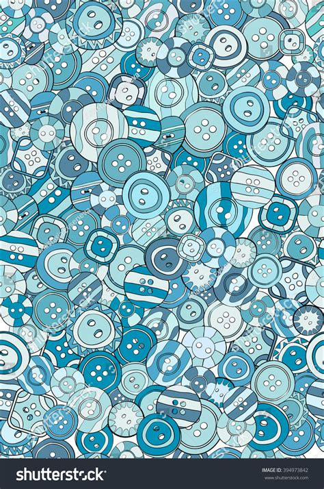 pattern art therapy a4 seamless pattern colorful blue art stock vector