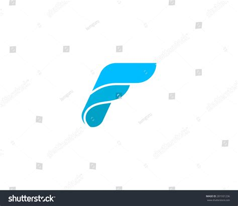design logo huruf f abstract letter f logo design template stock illustration