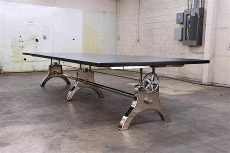 Industrial Conference Table Chrome Hure Conference Table With Faux Crank Vintage Industrial Furniture