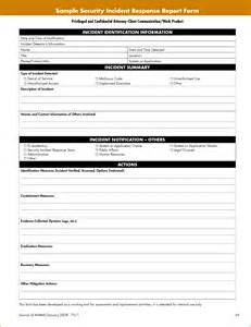 It Security Incident Report Template 5 Security Incident Report Template Rejection Letters