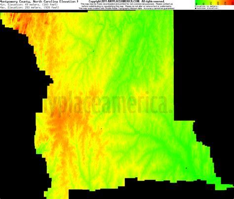 carolina elevation map free montgomery county carolina topo maps elevations