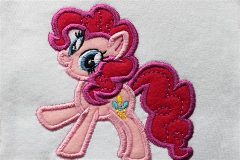 Pink Pony pink pony applique embroidery design by