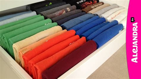Folding T Shirts For Drawers by Keep Your Folded Shirts Visible With The Konmari Technique