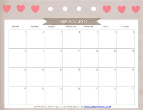 cute printable weekly calendar 2015 cute blank calendar june 2015 free printable february 2015