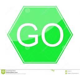 Go sign illustration isolated on white background green