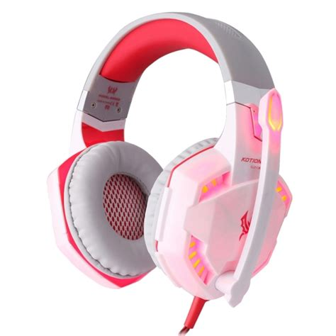 Kotion Each G2000 Gaming Headset Bass With Led Light kotion each g2000 ear gaming headphone headset earphone headband with mic stereo bass