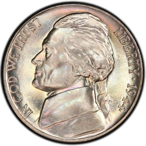 1944 jefferson nickel values and prices past sales