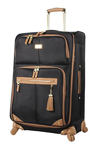 steve madden luggage 3 softside spinner suitcase set collection one size harlo black