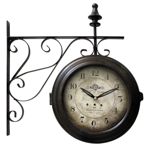 Yosemite Home Decor 16 In Double Sided Iron Wall Clock In | yosemite home decor 16 in double sided iron wall clock in