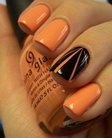 orange black design nail 25 spooky ideas page 4 of 5 nail