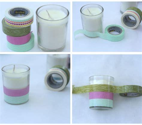 Handmade Candles - diy washi and image transfer candles dear handmade