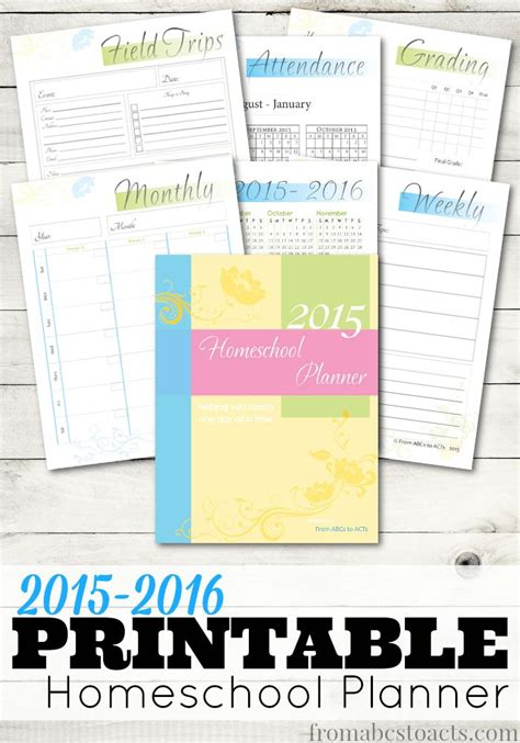 best printable homeschool planner printable 2015 homeschool planner student centered