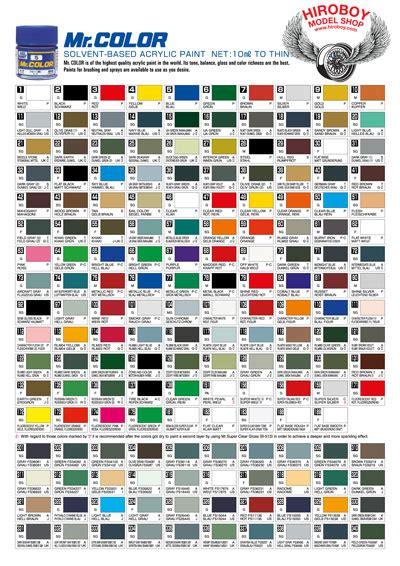 100 japan paint color chart kuretake mc2036v gansai tambi 36 color set honda